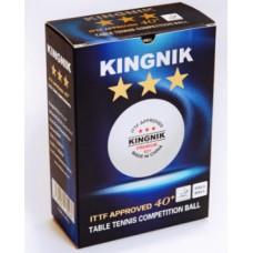 Мяч пластиковый KINGNIK 40+ PREMIUM 3* ABS, 6 шт